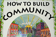 Poster about how to build a community