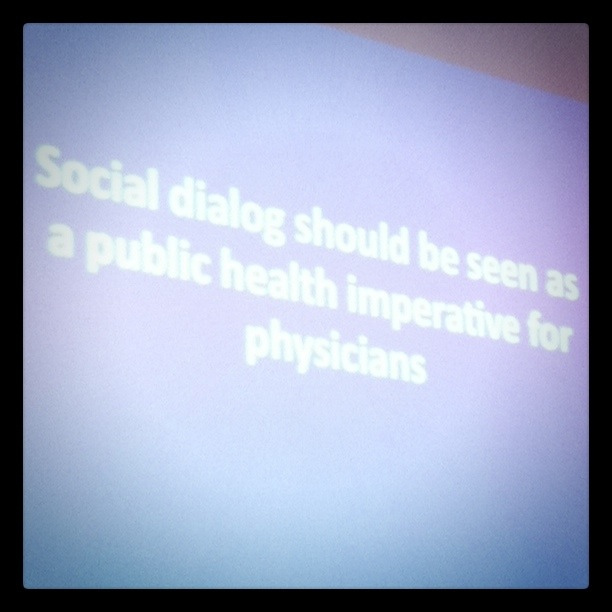 Social dialog should be seen as a public health imperative for physicians