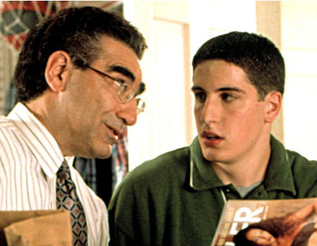 Scene from American Pie between father and son